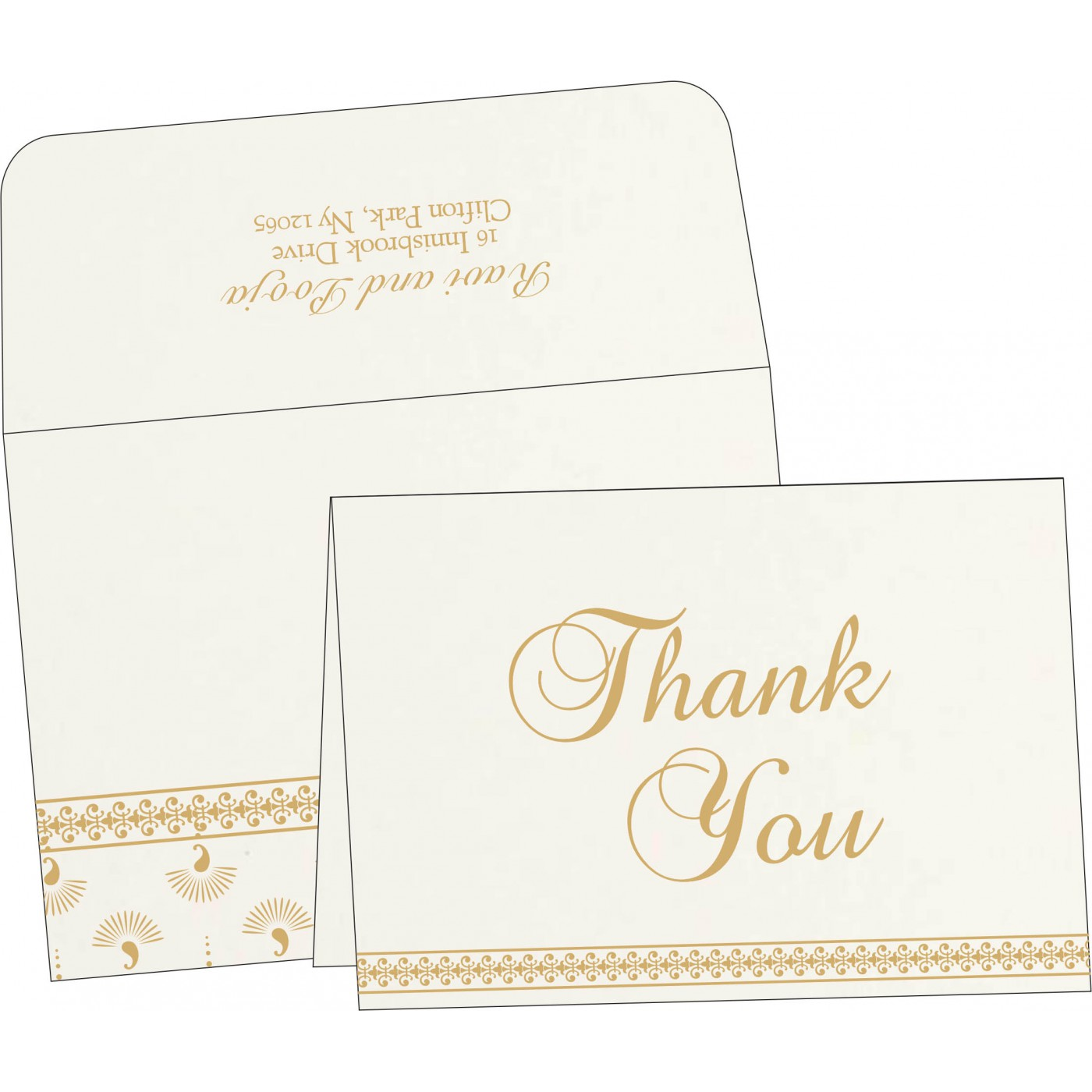 Thank You Cards : TYC-8247M - 123WeddingCards