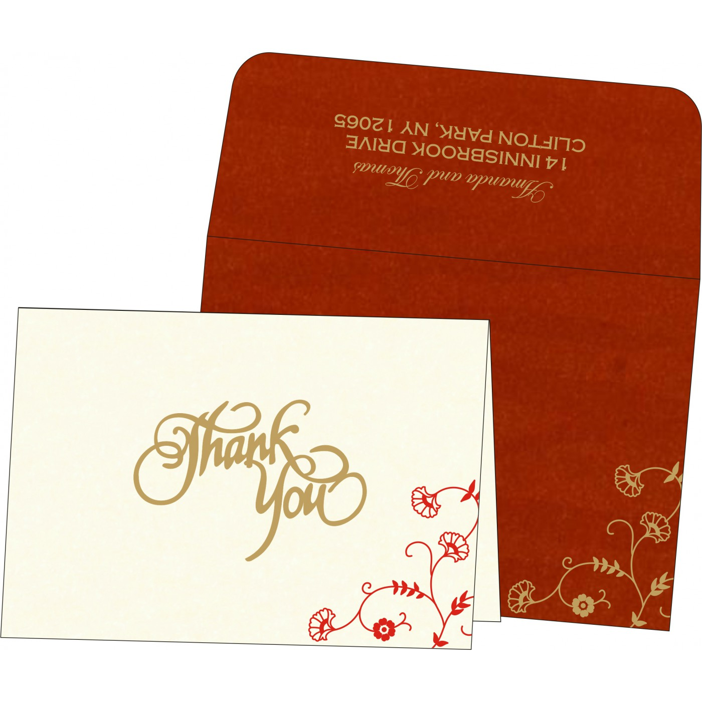Thank You Cards : TYC-8248A - 123WeddingCards