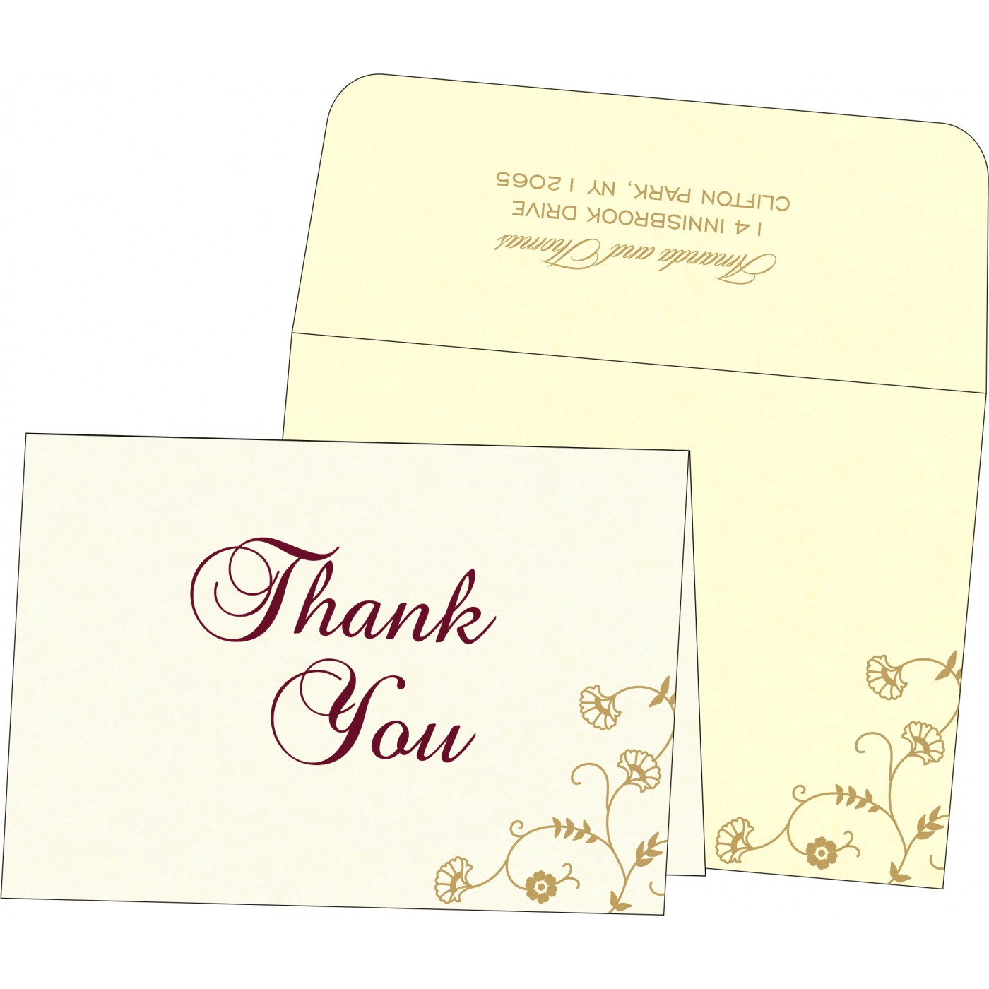 Thank You Cards : TYC-8248B - 123WeddingCards