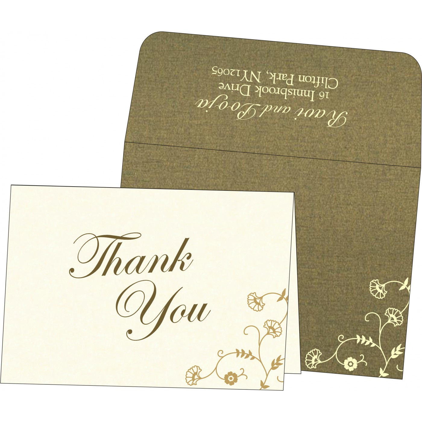 Thank You Cards : TYC-8248D - 123WeddingCards