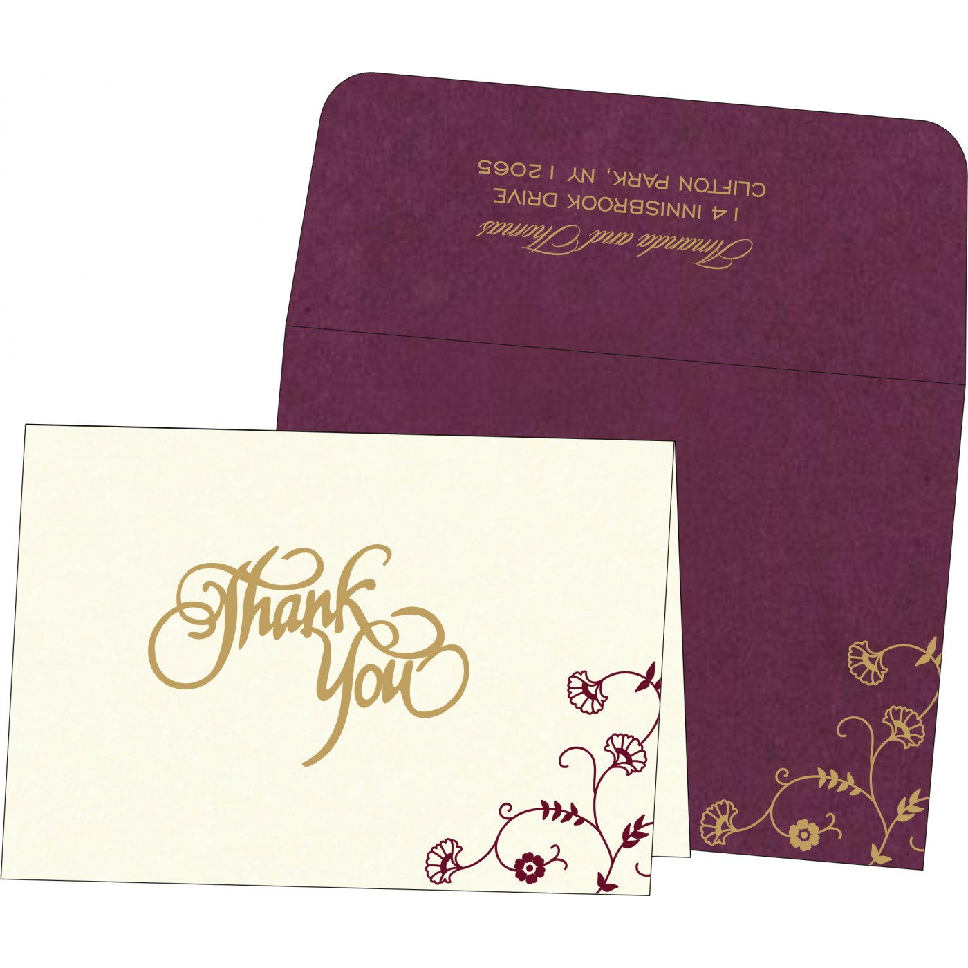 Thank You Cards : TYC-8248H - 123WeddingCards