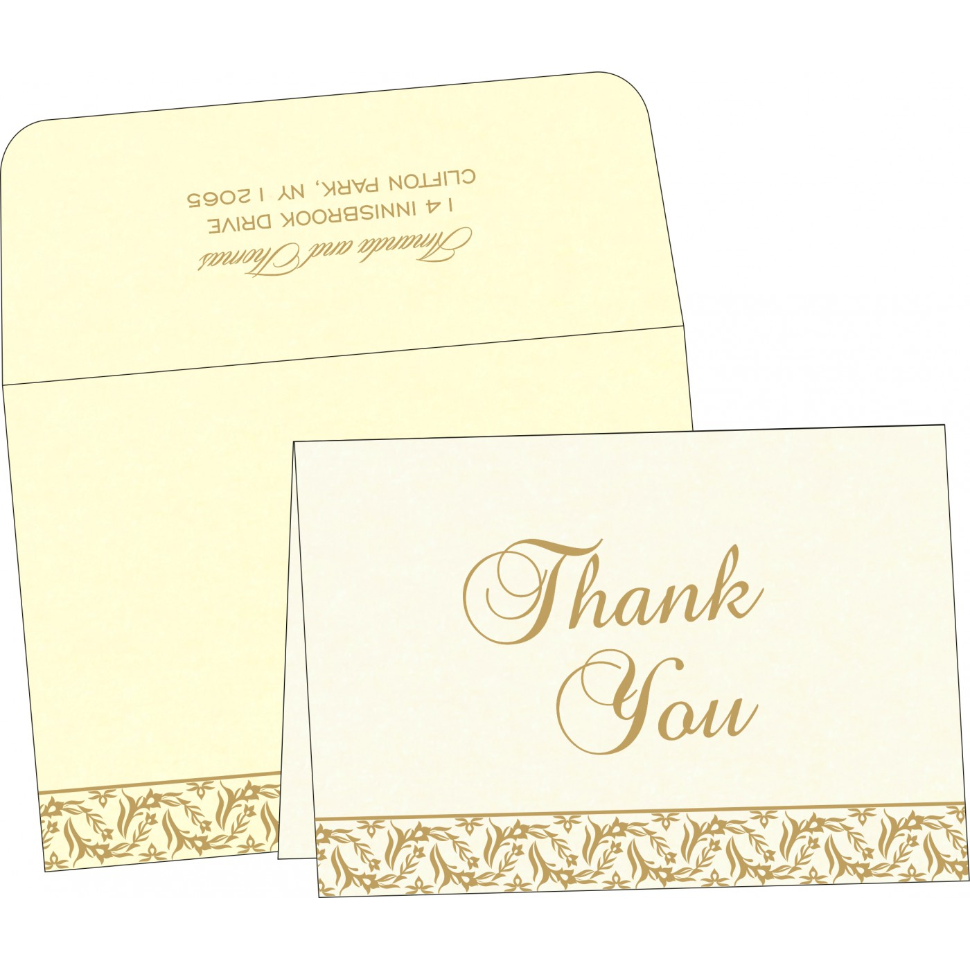 Thank You Cards : TYC-8249B - 123WeddingCards