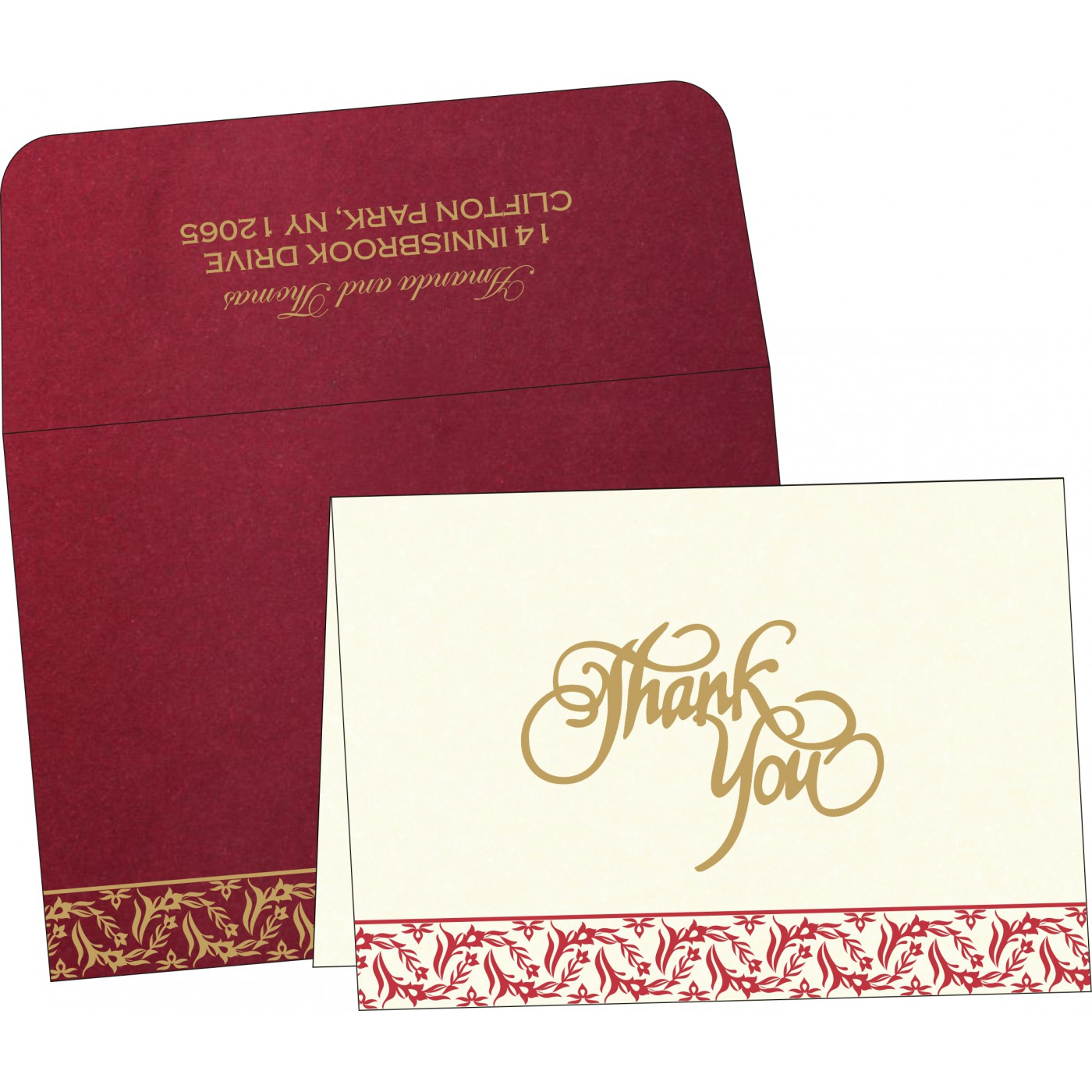 Thank You Cards : TYC-8249L - 123WeddingCards