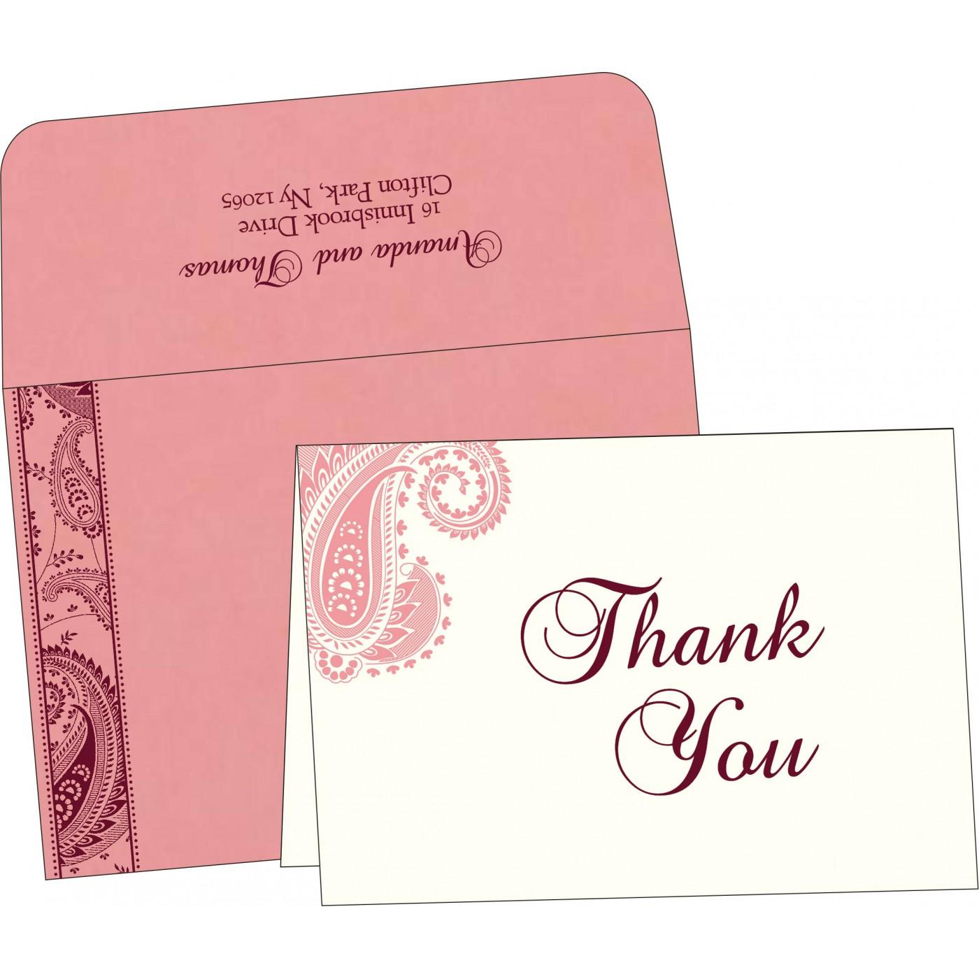 Thank You Cards : TYC-8250F - 123WeddingCards