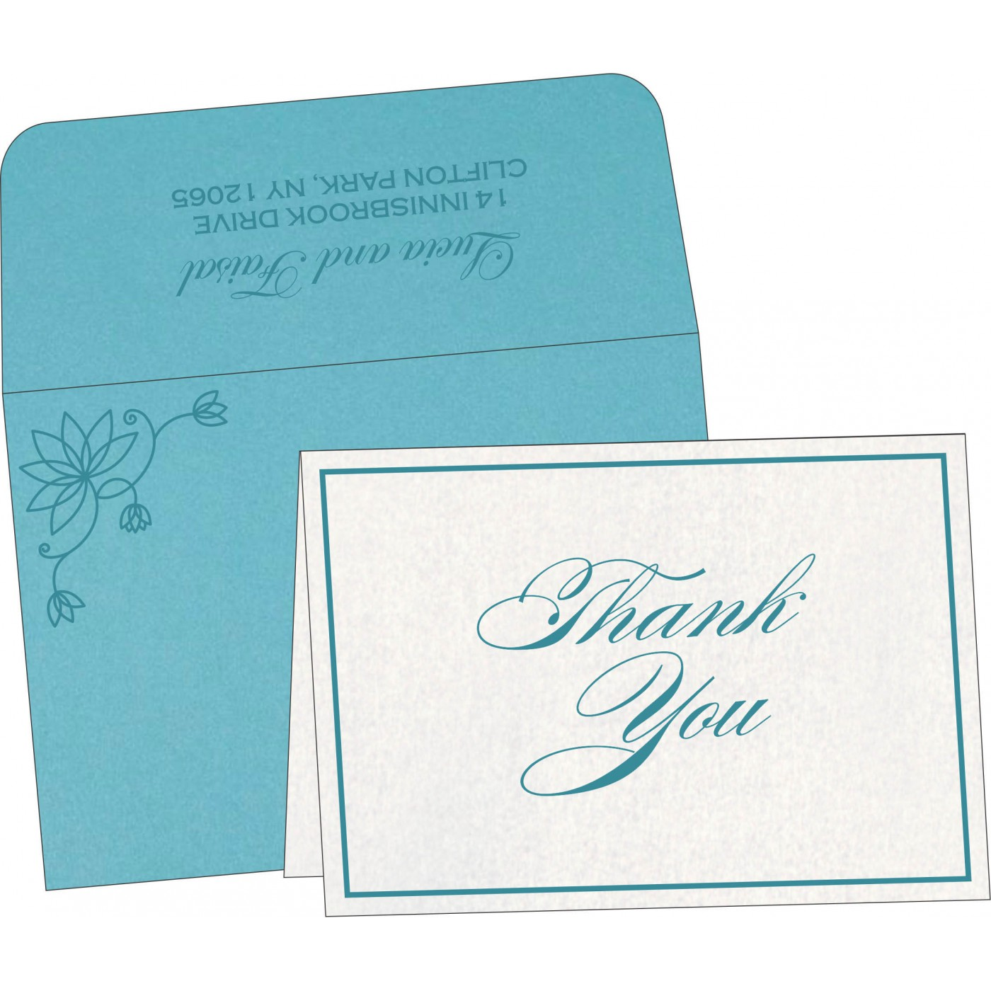 Thank You Cards : TYC-8251G - 123WeddingCards