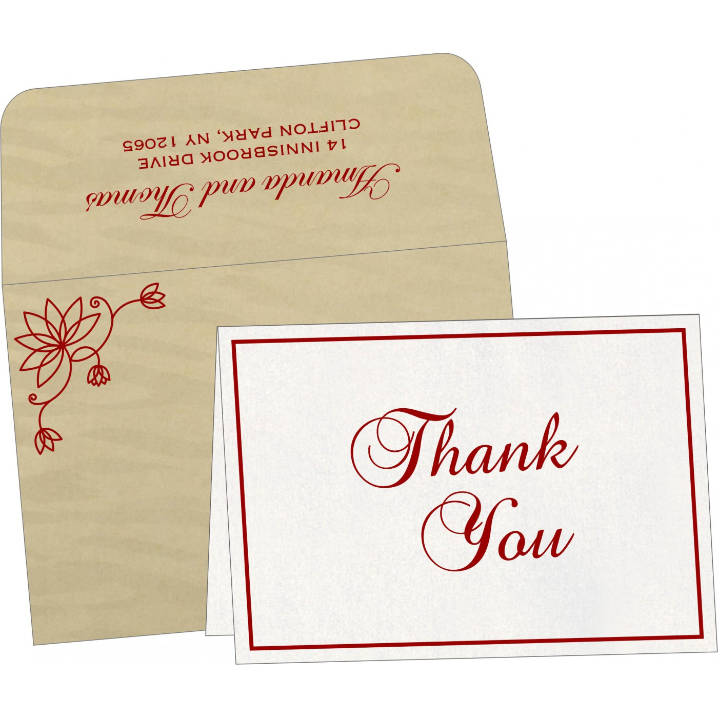 Thank You Cards : TYC-8251H - 123WeddingCards