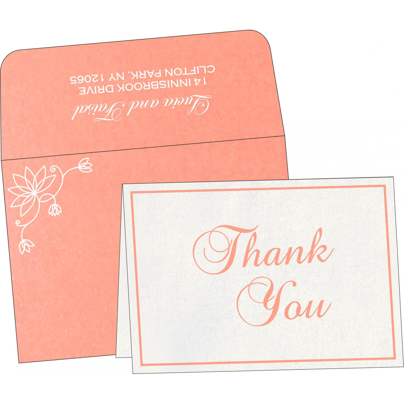 Thank You Cards : TYC-8251I - 123WeddingCards