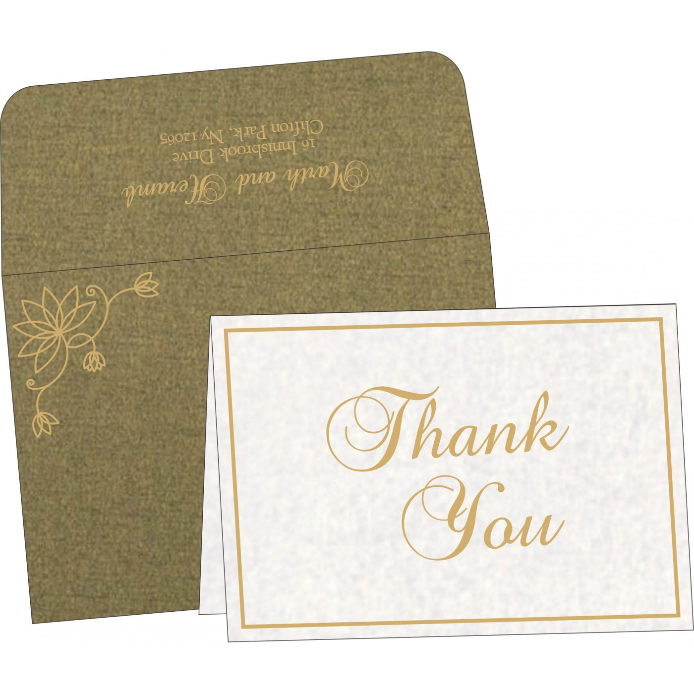 Thank You Cards : TYC-8251K - 123WeddingCards