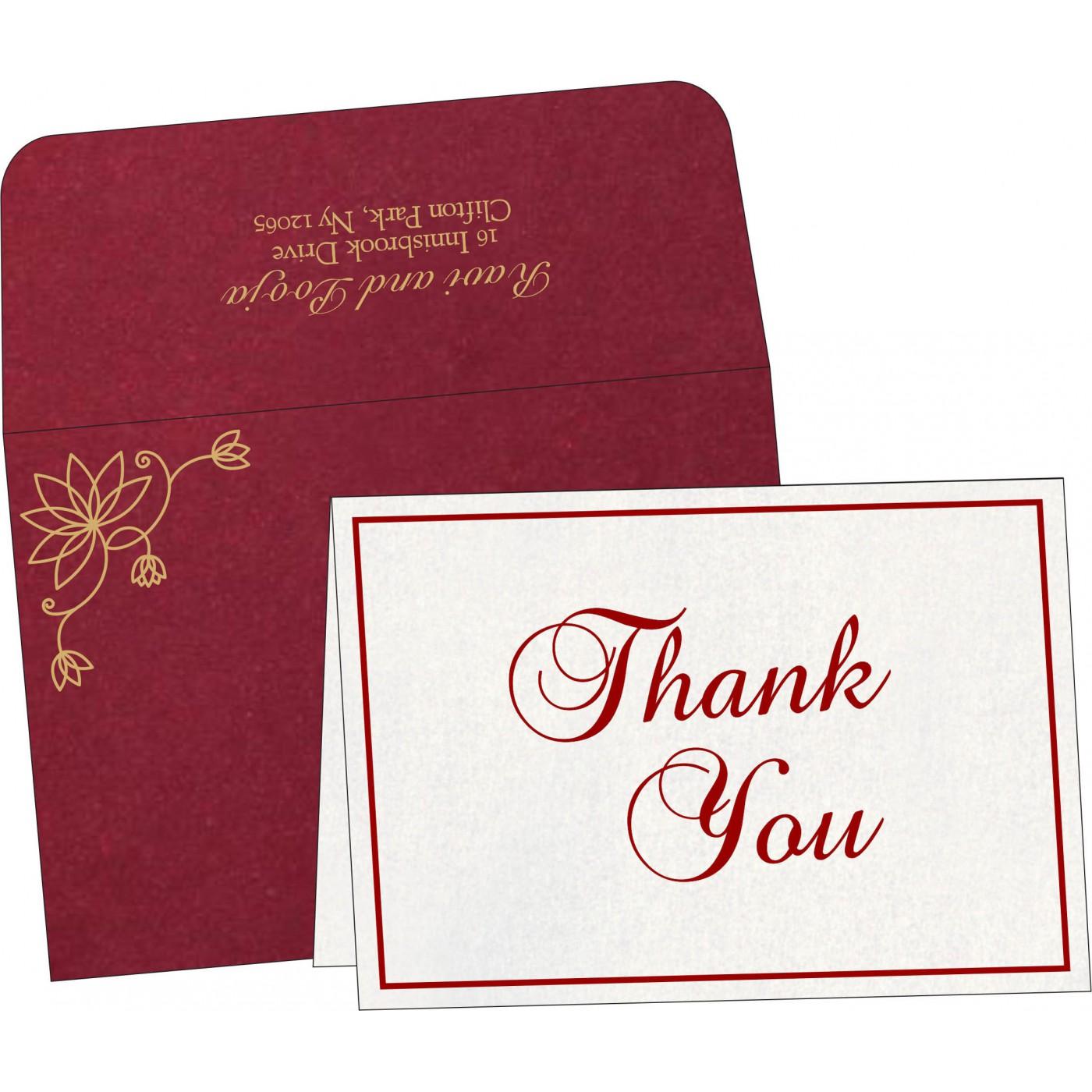 Thank You Cards : TYC-8251L - 123WeddingCards