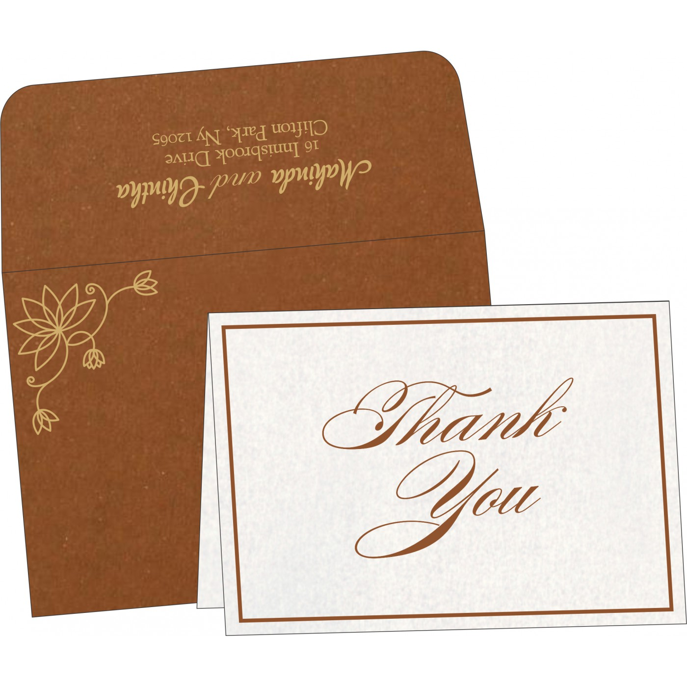Thank You Cards : TYC-8251M - 123WeddingCards
