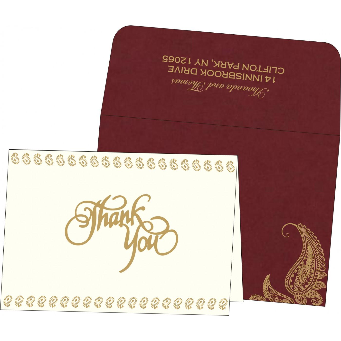 Thank You Cards : TYC-8252A - 123WeddingCards