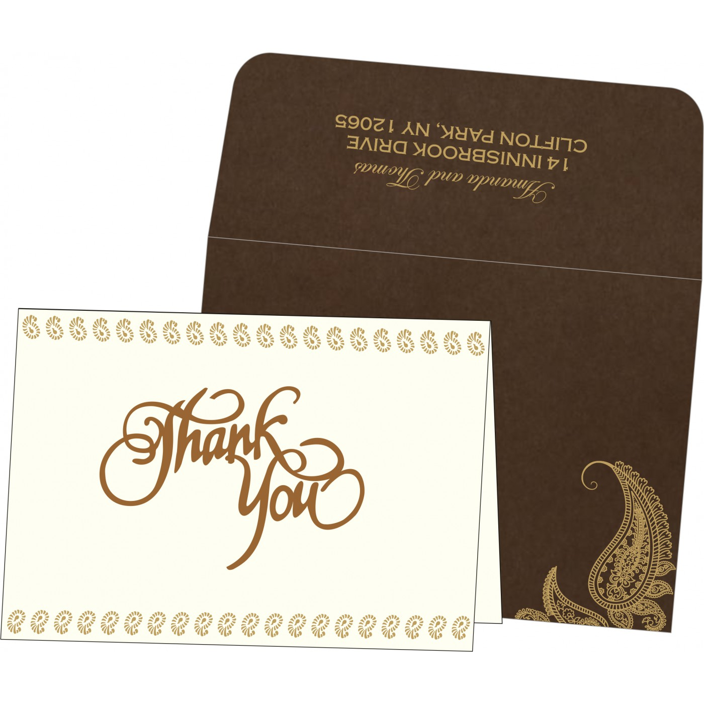 Thank You Cards : TYC-8252F - 123WeddingCards