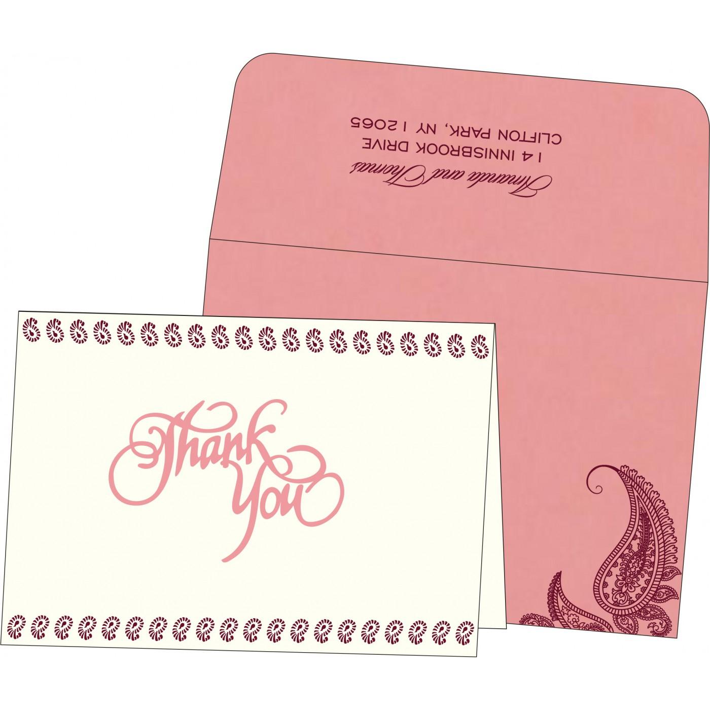 Thank You Cards : TYC-8252G - 123WeddingCards