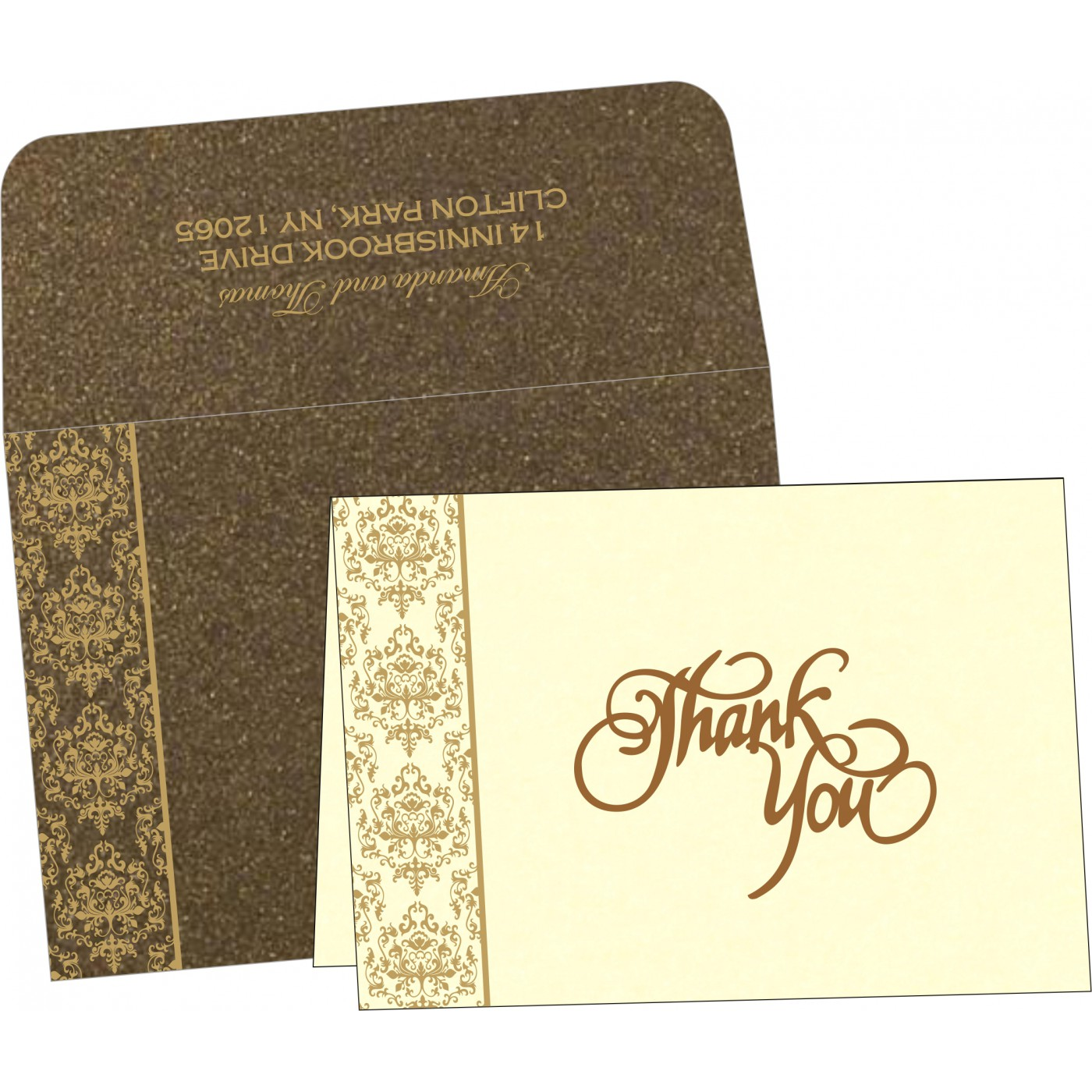 Thank You Cards : TYC-8253A - 123WeddingCards