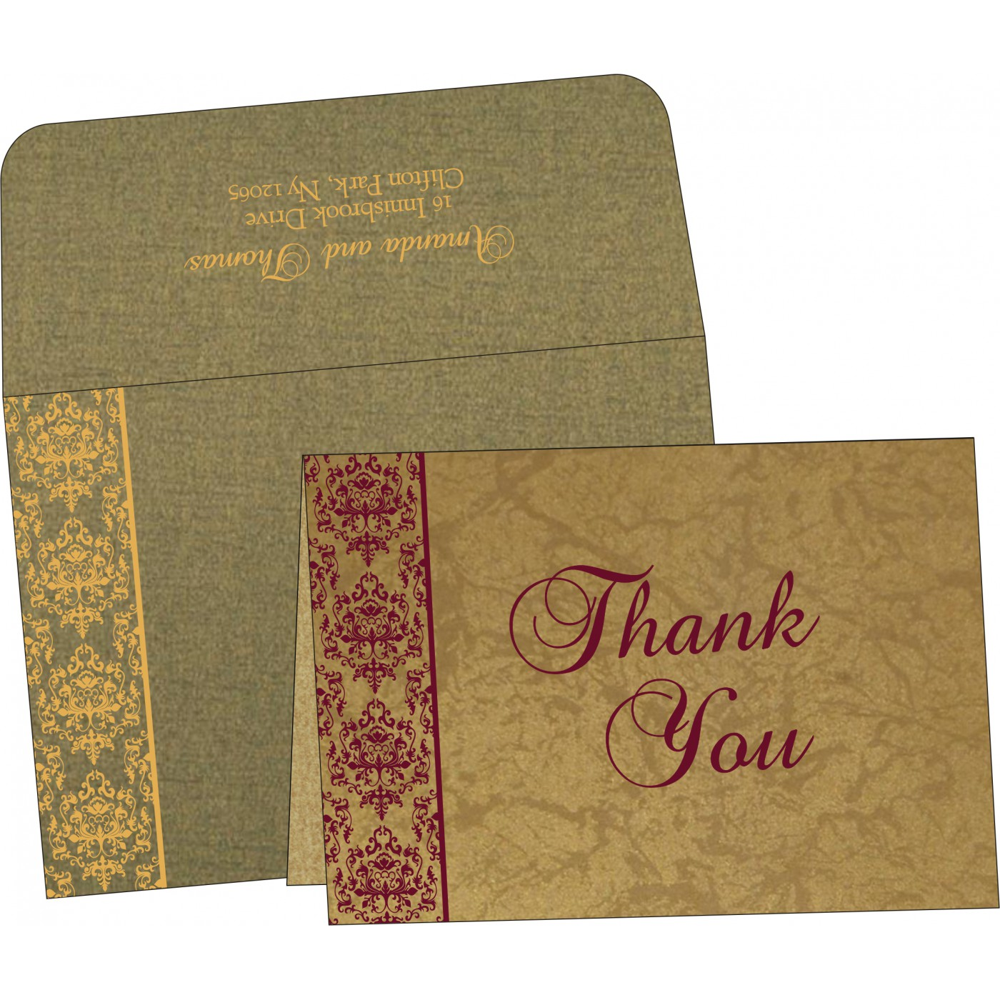 Thank You Cards : TYC-8253C - 123WeddingCards