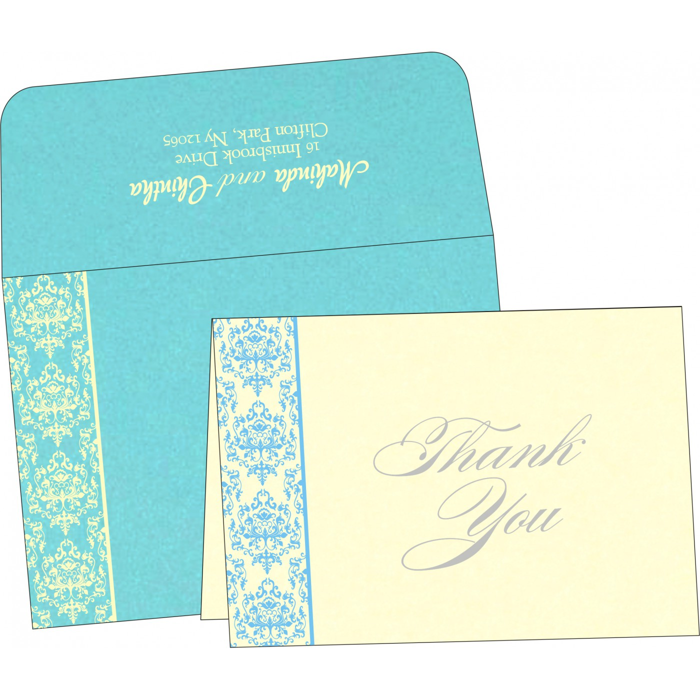 Thank You Cards : TYC-8253E - 123WeddingCards
