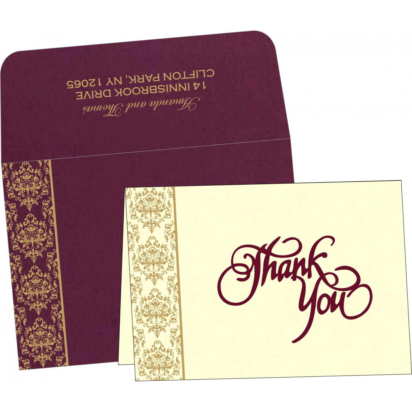 Thank You Cards : TYC-8253F - 123WeddingCards