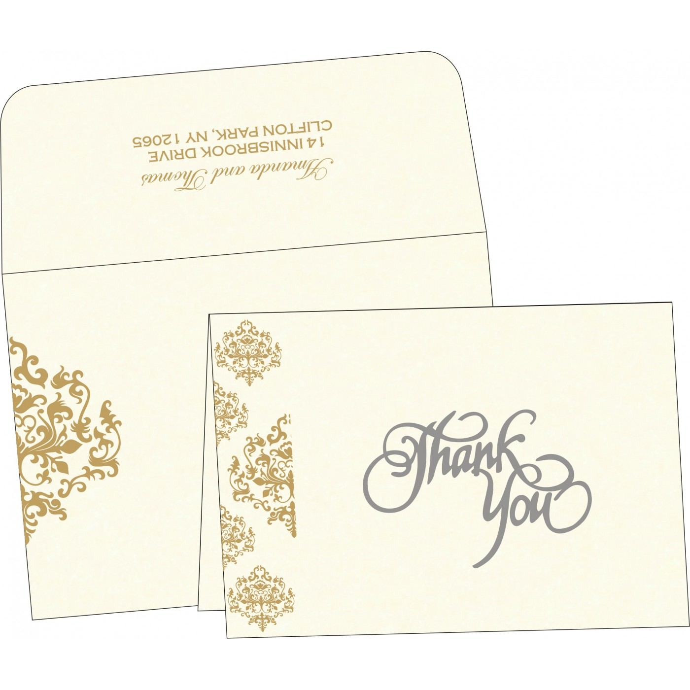 Thank You Cards : TYC-8254A - 123WeddingCards