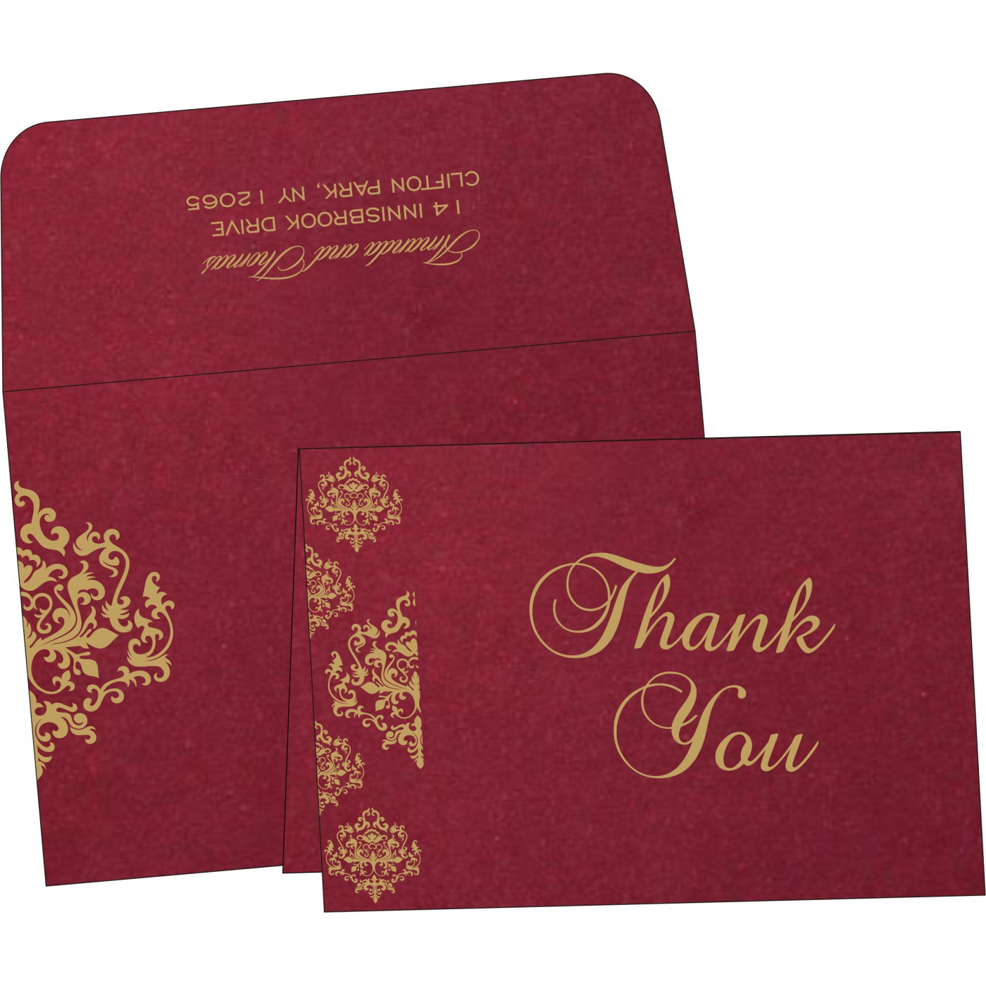 Thank You Cards : TYC-8254B - 123WeddingCards