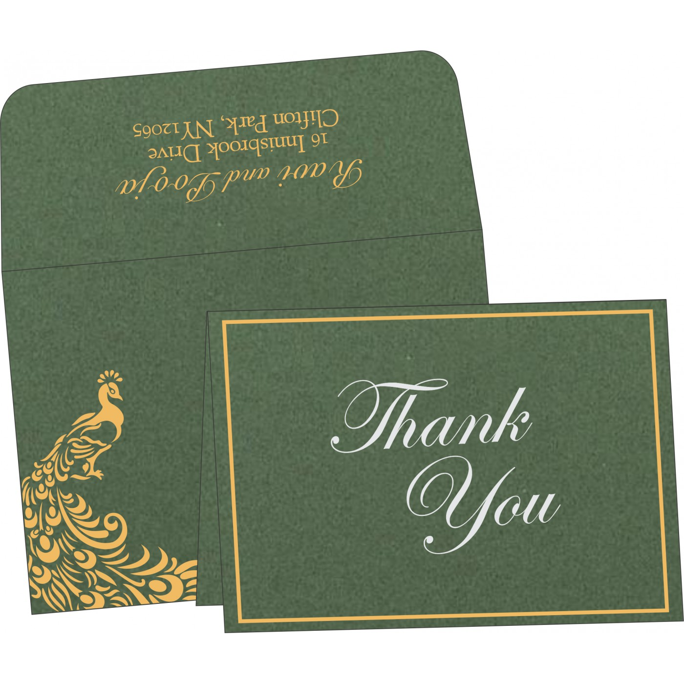 Thank You Cards : TYC-8255D - 123WeddingCards