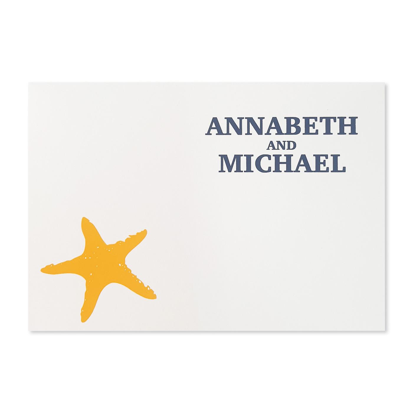 Thank You Cards : TYC-NAUTICAL_STARFISH - 123WeddingCards