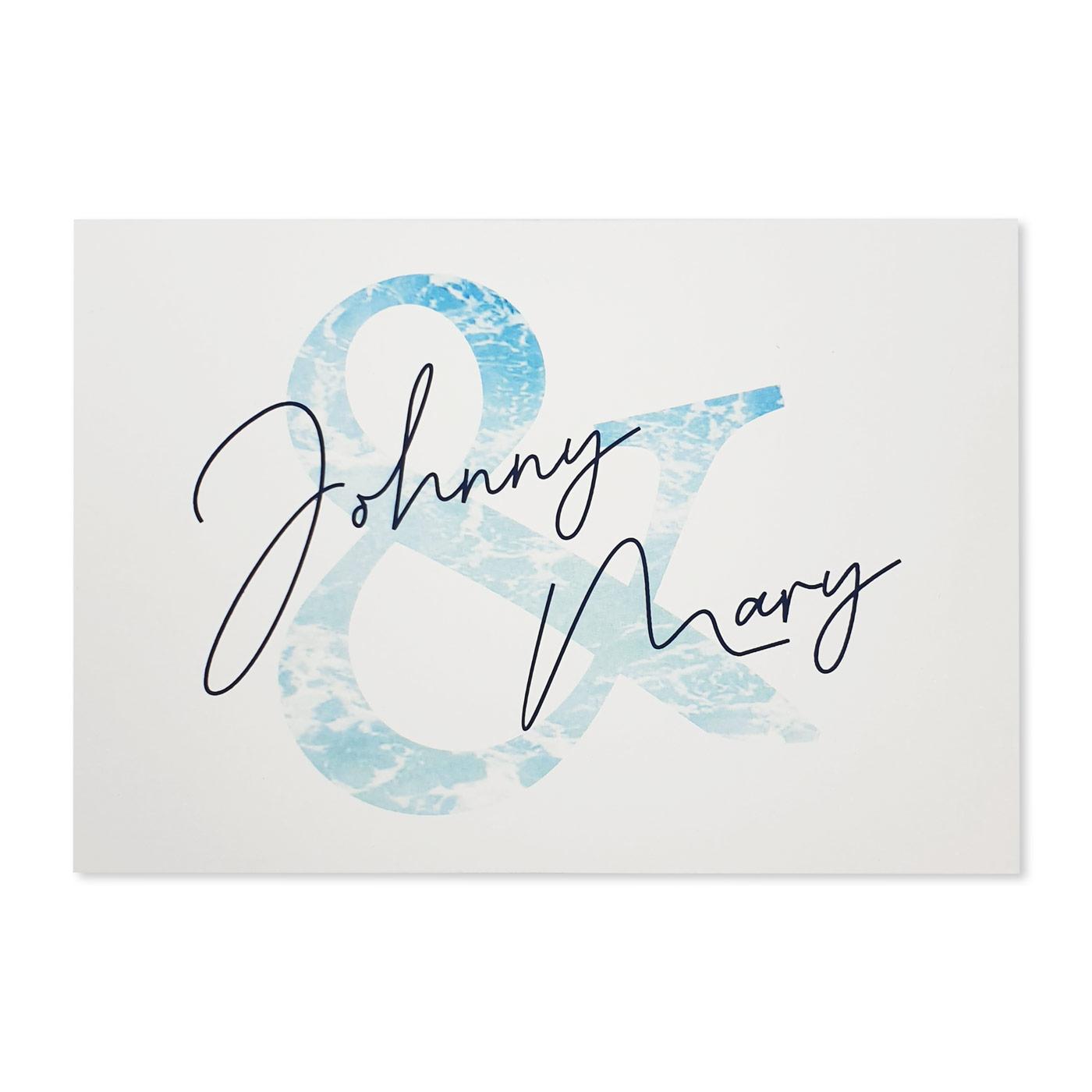 Thank You Cards : TYC-OCEAN_SPRAY - 123WeddingCards