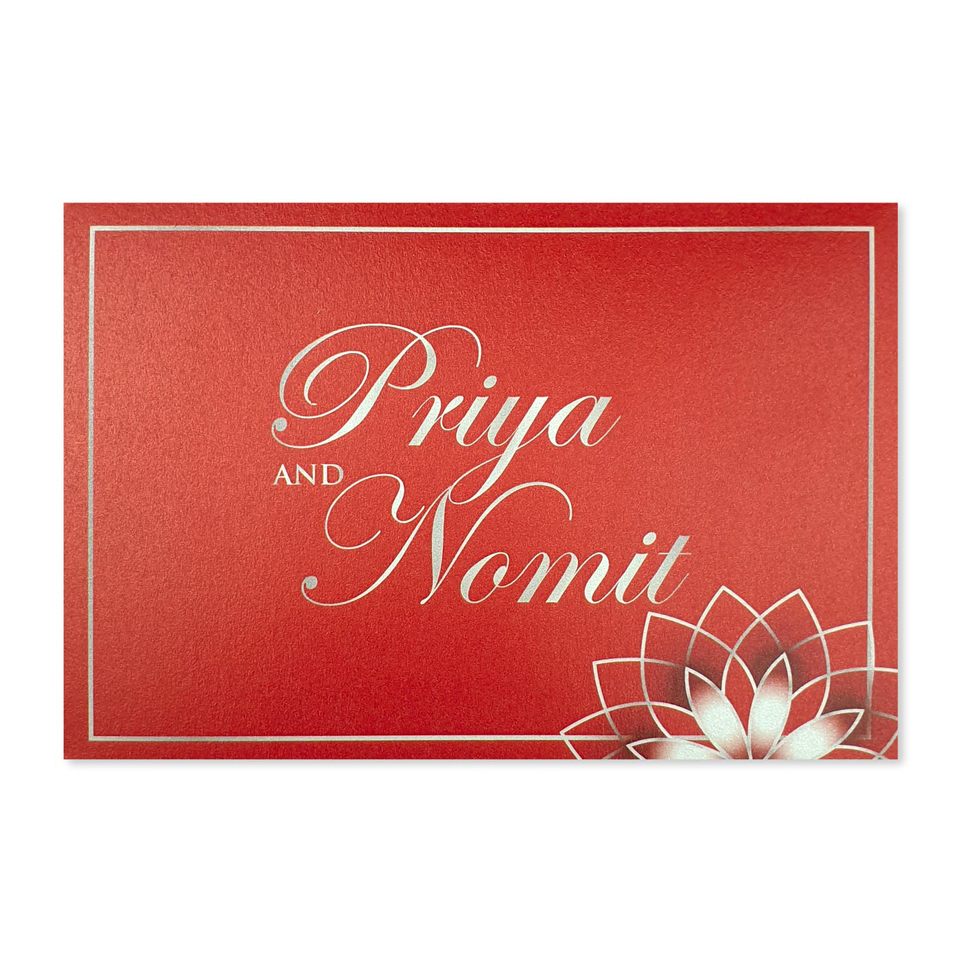 Thank You Cards : TYC-ROSE_OUTLINE - 123WeddingCards