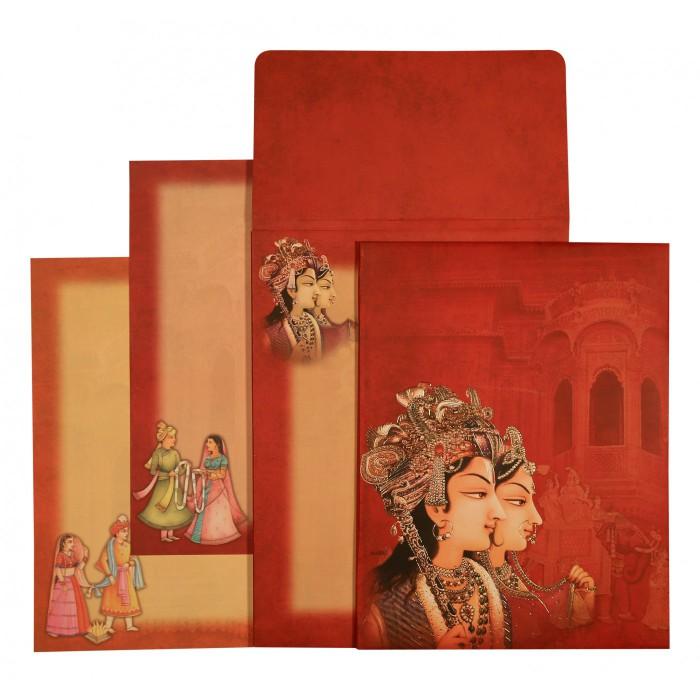 Designer Wedding Cards - D-1568