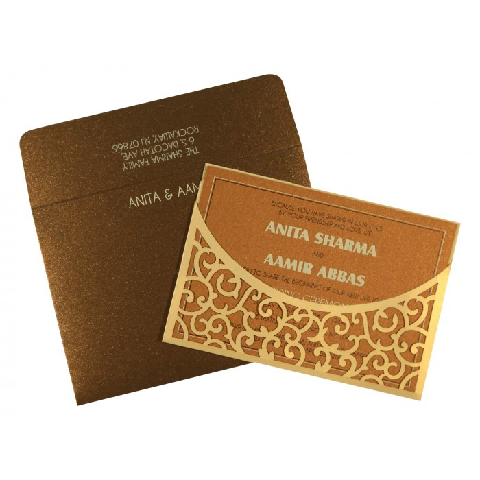 Designer Wedding Cards - D-1587