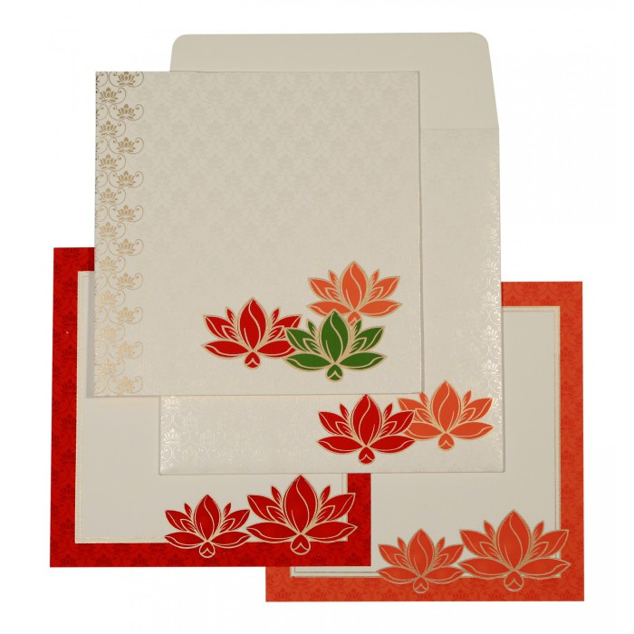 Designer Wedding Cards - D-1599