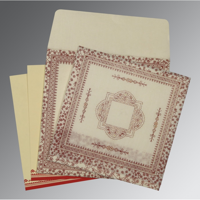 Designer Wedding Cards - D-8205E