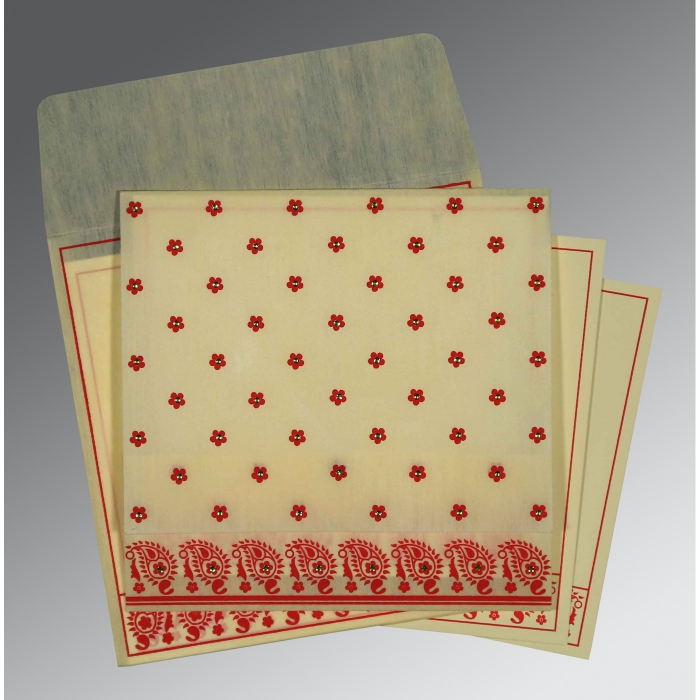 Designer Wedding Cards - D-8218F