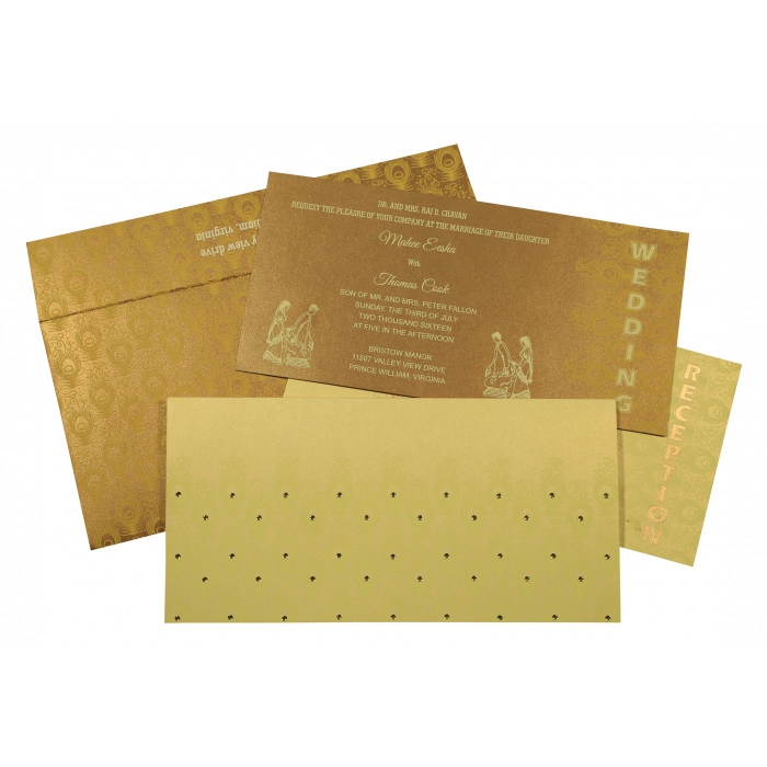 Designer Wedding Cards - D-8256A