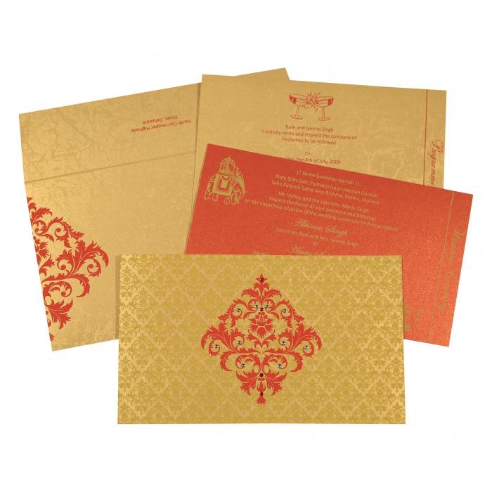 Designer Wedding Cards - D-8257C