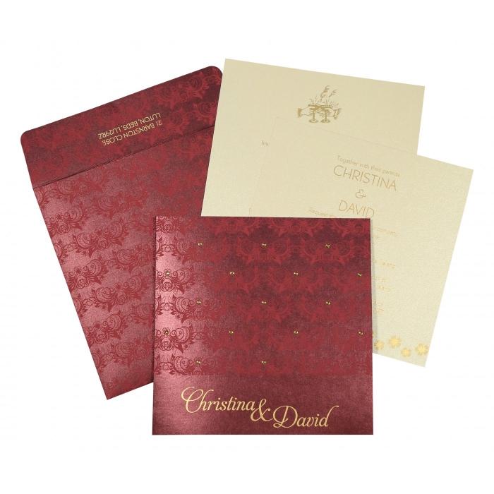 Designer Wedding Cards - D-8258C