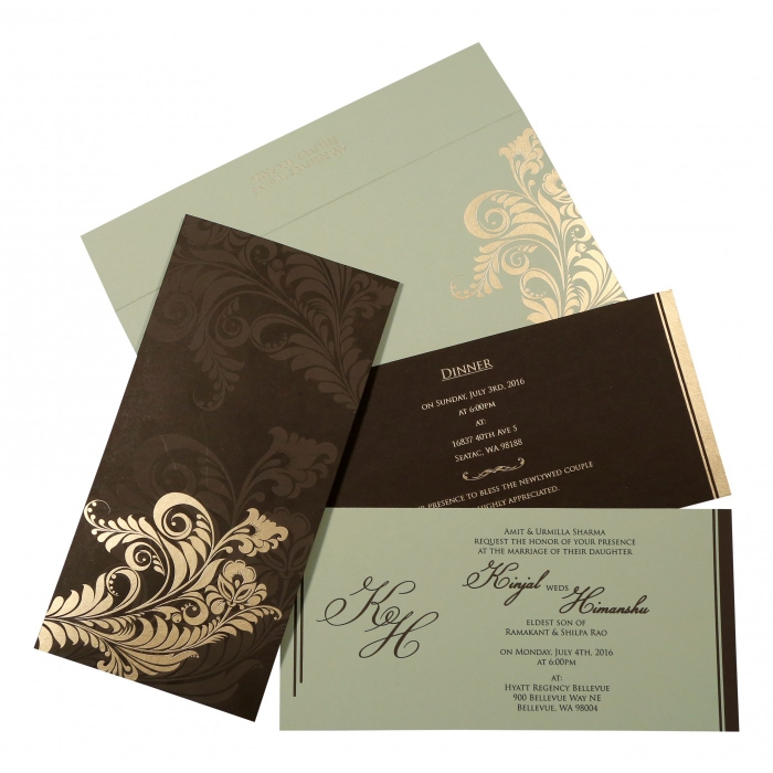 Designer Wedding Cards - D-8259C