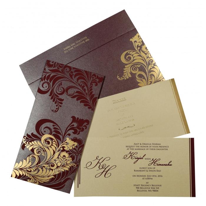 Designer Wedding Cards - D-8259F
