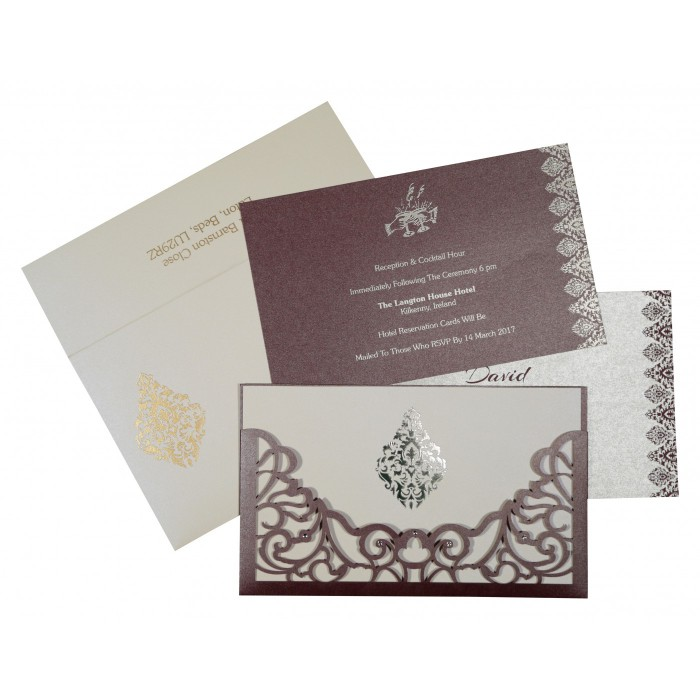 Designer Wedding Cards - D-8262B