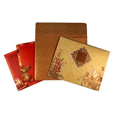 Designer Wedding Cards - D-1638
