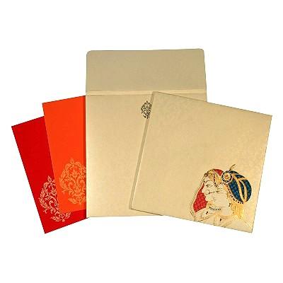 Designer Wedding Cards - D-1654