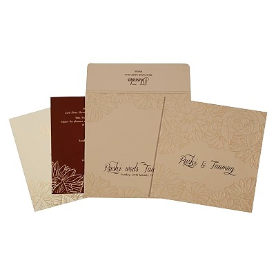 Designer Wedding Cards - D-1728