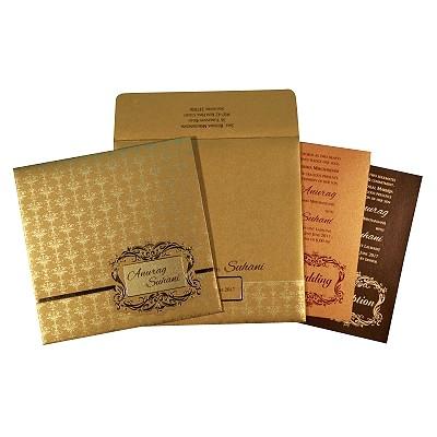 Designer Wedding Cards - D-1741