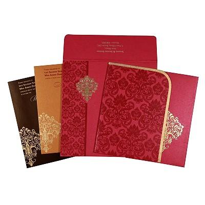 Designer Wedding Cards - D-1754