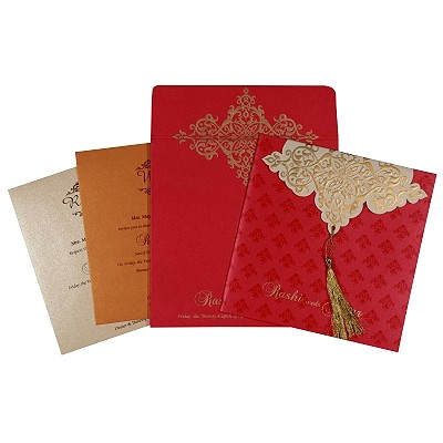 Designer Wedding Cards - D-1756
