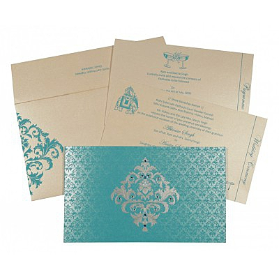 Designer Wedding Cards - D-8257E