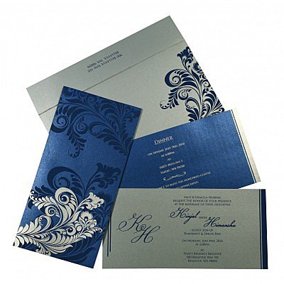 Designer Wedding Cards - D-8259E