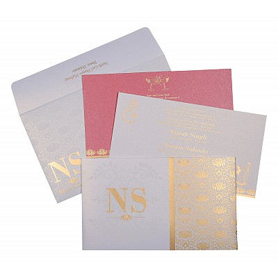Designer Wedding Cards - D-8261F