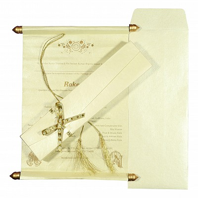Scroll Wedding Cards - SC-5003B