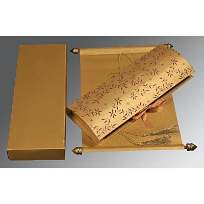 Scroll Wedding Cards - SC-5007G