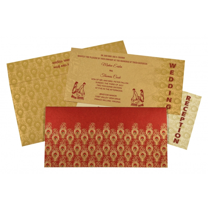 Sikh Wedding Invitation - S-8256C
